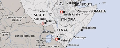 A.O.N. Map Region Kenya Africa